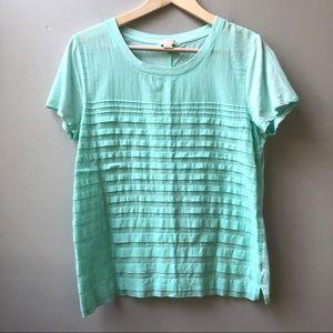 J Crew Short Sleeve T-shirt Aqua Turquoise M